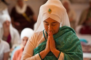 Khalsa woman praying