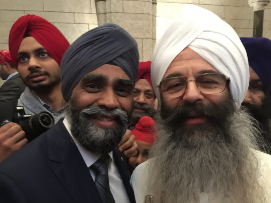 Jot Singh with Canadian Minister of Defense, Harjit Sajjan