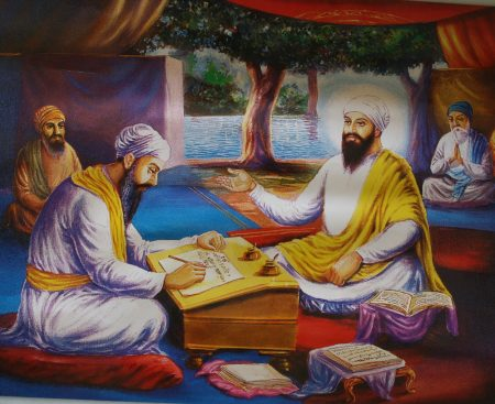 Bhai Gurdas and Guru Ji paintings (7)